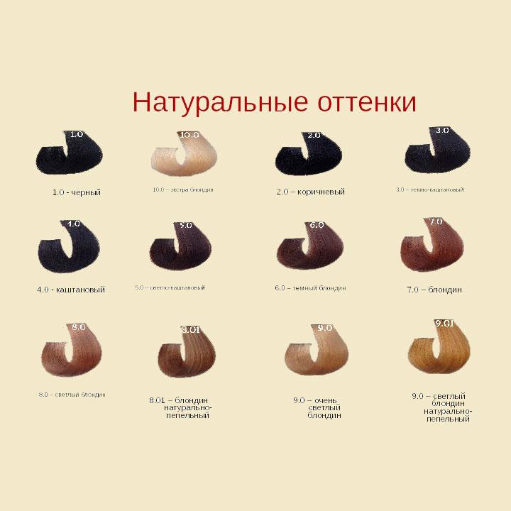 Натуральные цвета Barex Joc Color Line Палитра цветов