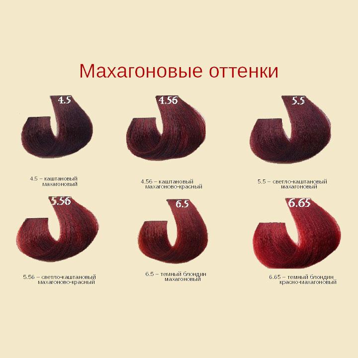 Махаоновые цвета Barex Joc Color Line Палитра цветов