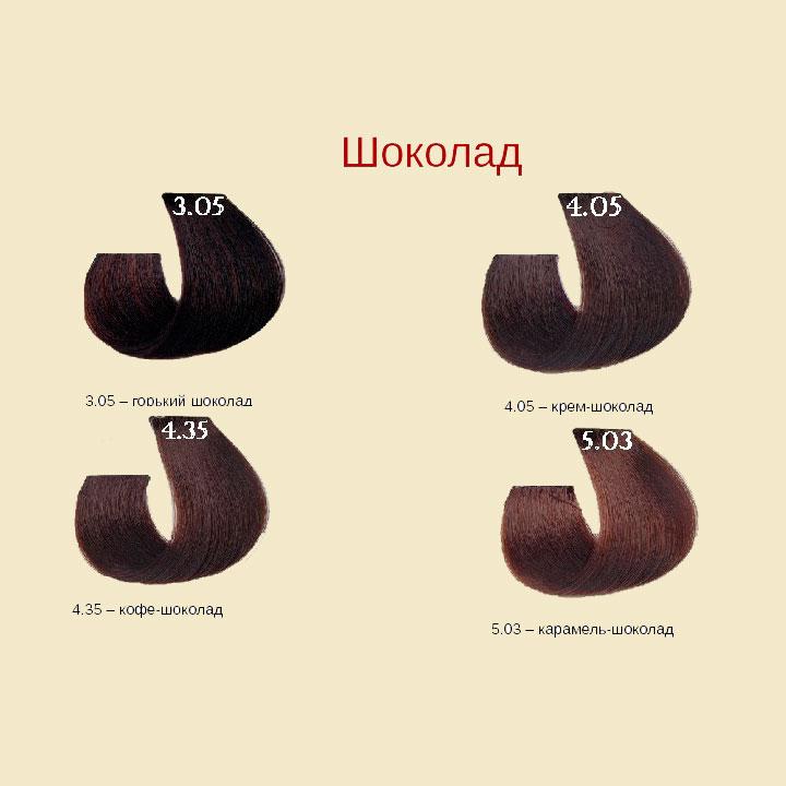 Шоколадные цвета Barex Joc Color Line Палитра цветов