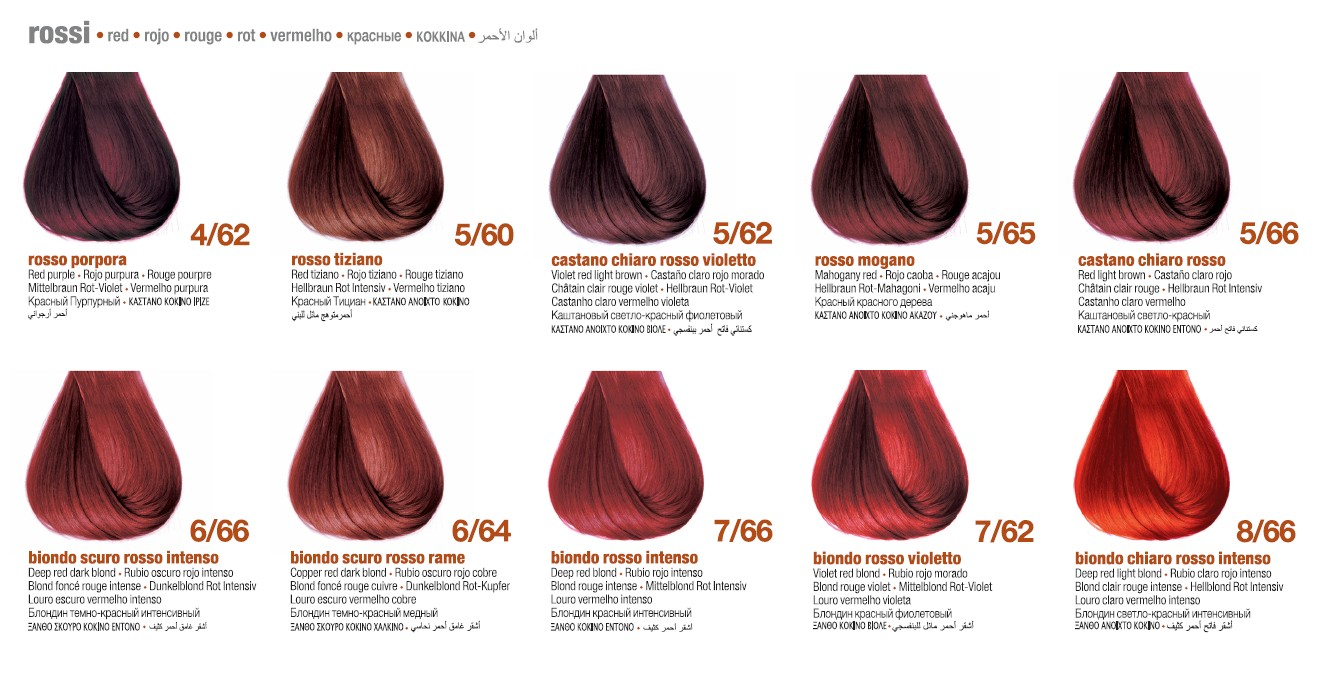 Красные цвета BBCOS Innovation EVO Палитра