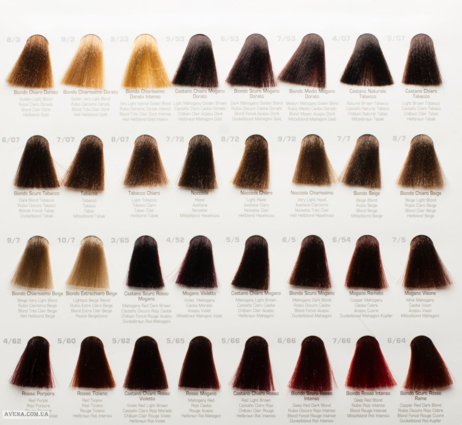 Палитра краски для волос Би Би Кос